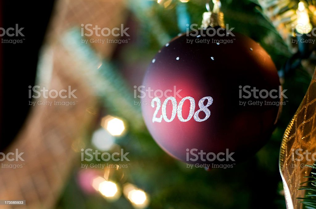Christmas 2008 Ornament stock photo