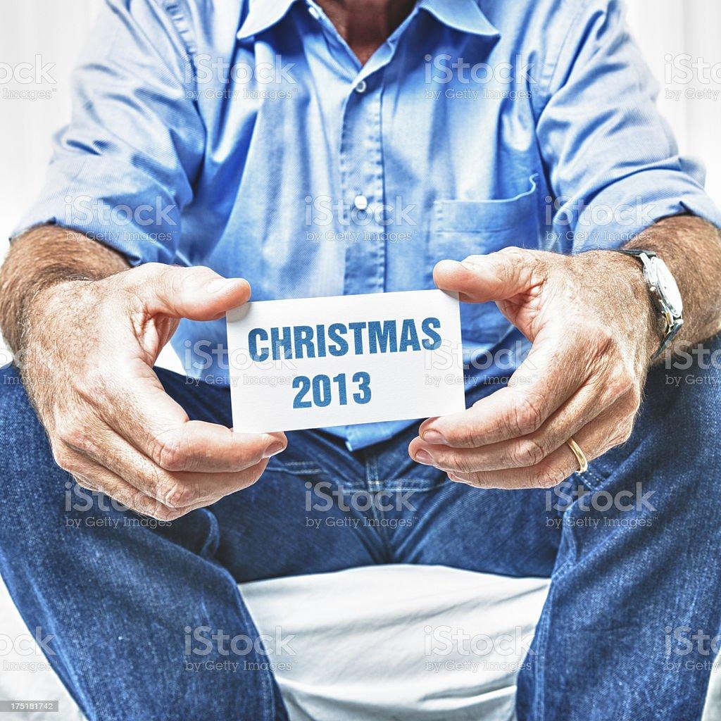 Christmas 2013 greeting card royalty-free stock photo