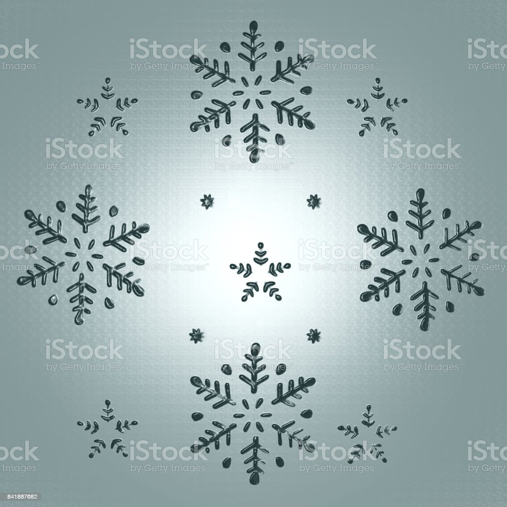 Christmas 3D Grey stock photo