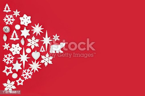 istock Christmas Abstract Background on Red 1181666812