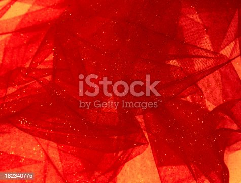 Christmas Abstract Background - Swirling Festive Fabric -  Red and Amber