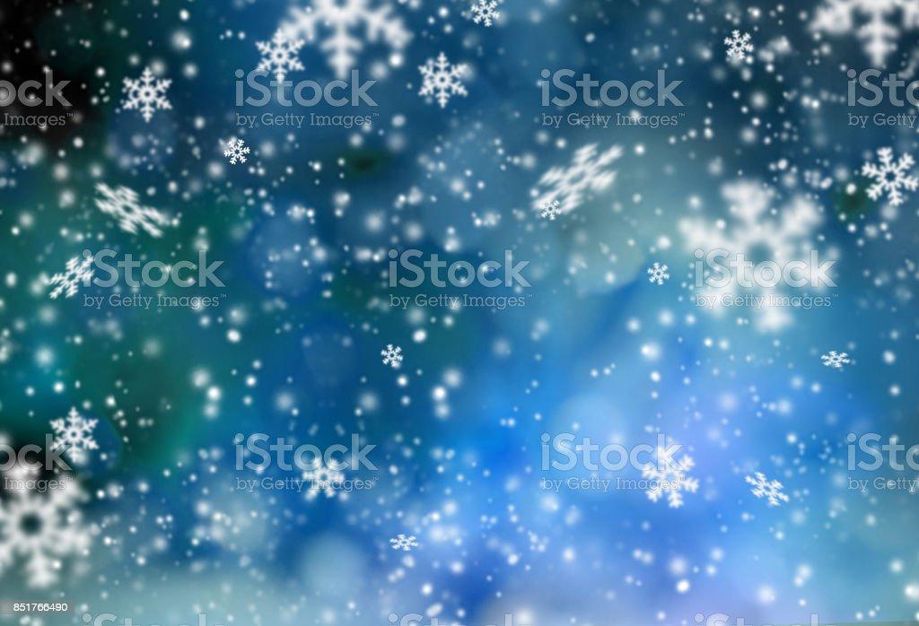 Christmas abstract bokeh background stock photo