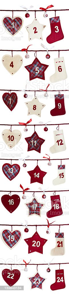 Christmas Advent Calendar royalty-free stock photo