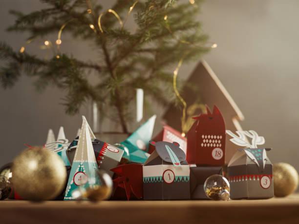 Weihnachten Advent Kalender-Stillleben – Foto