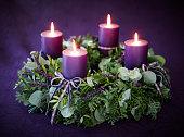 istock Christmas advent wreath 486456410