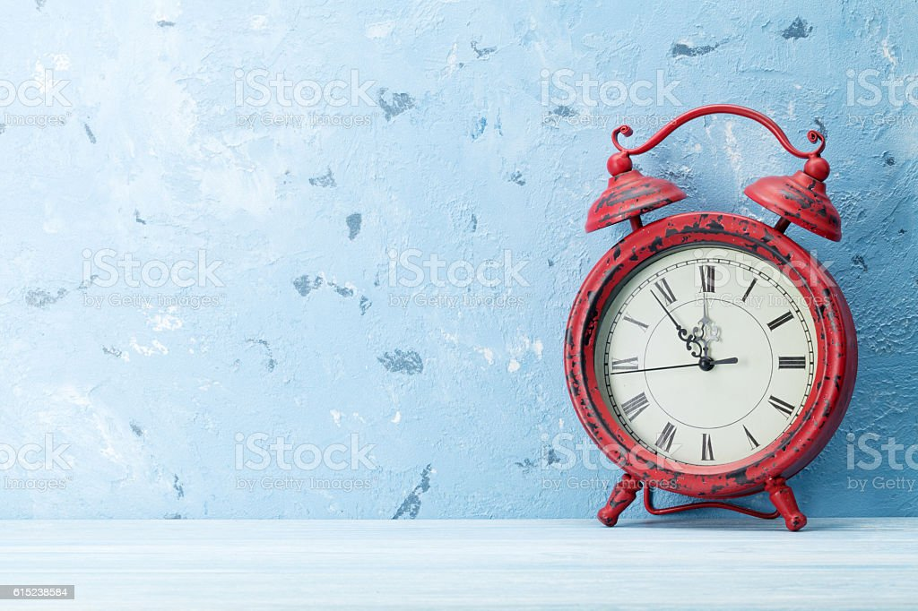 Christmas alarm clock stock photo