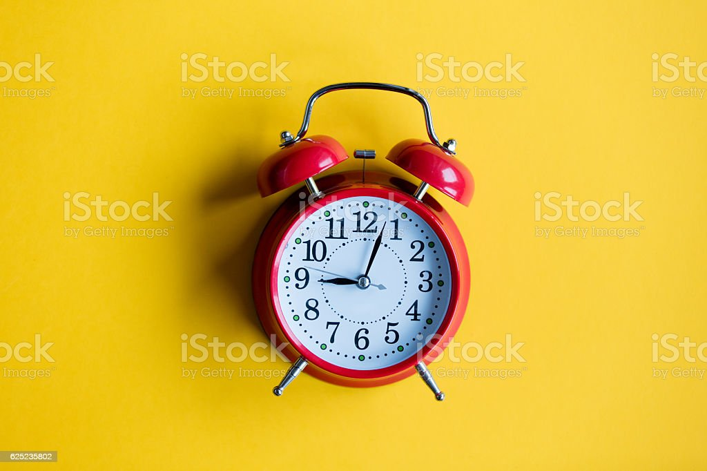 christmas alarm clock stock photo