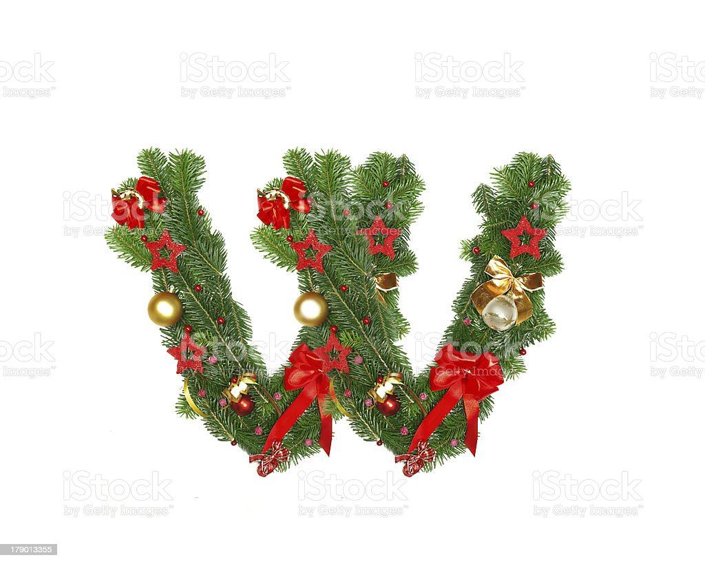 christmas alphabet letter royalty free stock photo