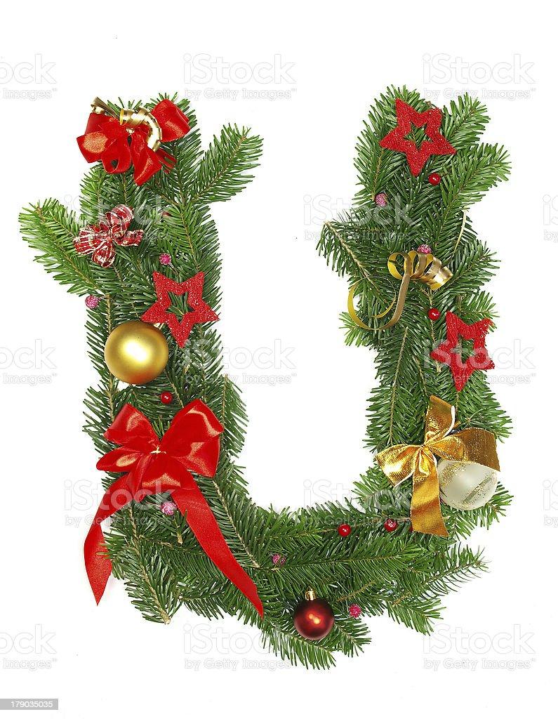 christmas alphabet letter royalty-free stock photo