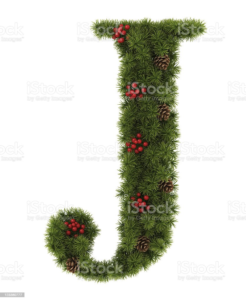 Christmas Alphabet. royalty-free stock photo