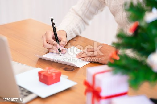 istock Christmas and Happy New Year blessing concept. 1070157716