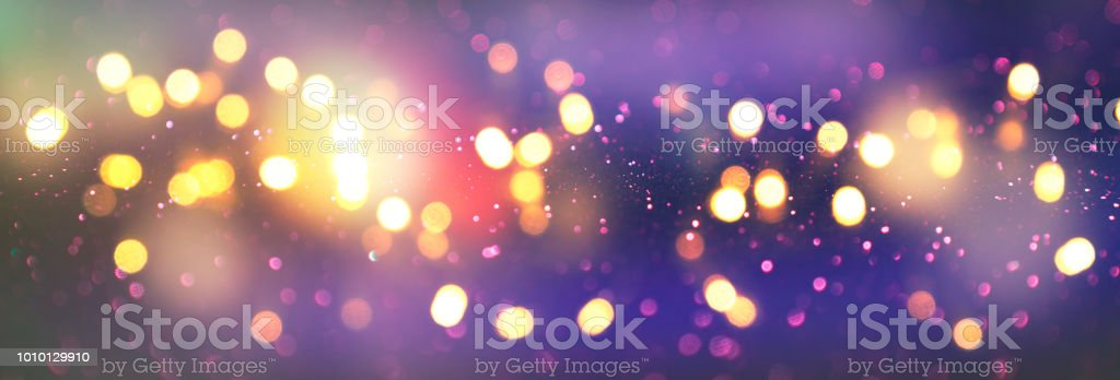 christmas and happy new year on blurred bokeh with snowfall banner background royalty free stock