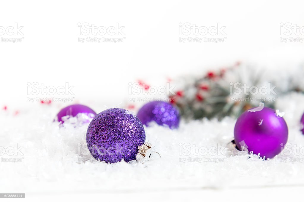 Christmas and New Year balls on light background royalty-free stock photo