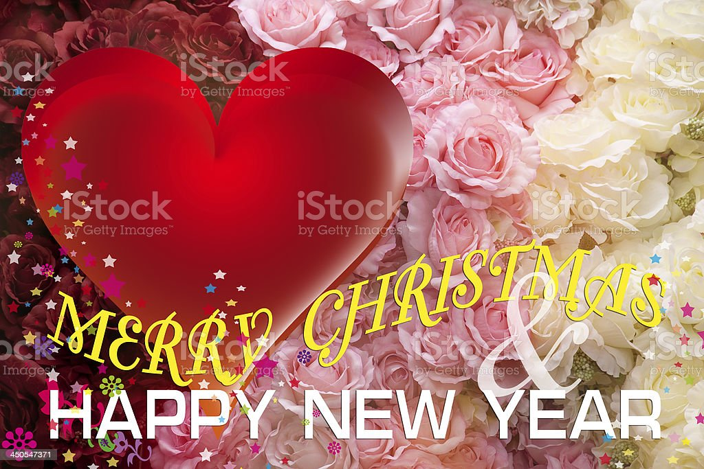 Christmas and New Year Card. stock photo