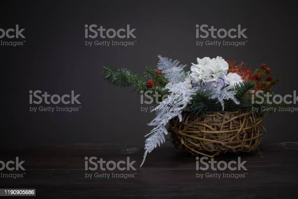 Christmas and new year composition wicker basket with fir branches picture id1190905686?b=1&k=6&m=1190905686&s=612x612&h=dtrylrlffnlble5s ajihncuchx9oj2mev jvzcv9lq=