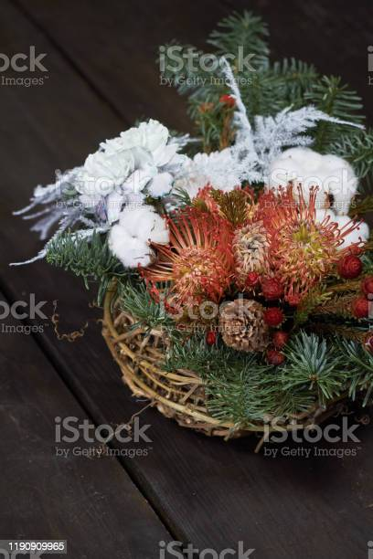 Christmas and new year composition wicker basket with fir branches picture id1190909965?b=1&k=6&m=1190909965&s=612x612&h=ajwd3i8x1dlvc3kczqafqzc5sm tqxmfg6kkjiio3x8=