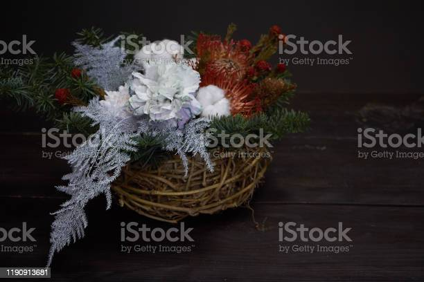 Christmas and new year composition wicker basket with fir branches picture id1190913681?b=1&k=6&m=1190913681&s=612x612&h=f 4ufhk6gc1zhpwucwwkvrbqriez9b0zb7lh w n4zq=