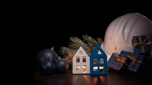 Christmas and New Year construction stock photo
