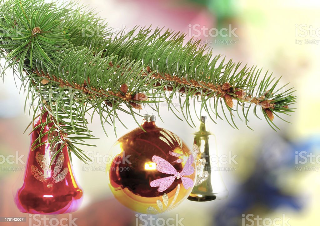 Christmas and New Year decoration. royalty-free stock photo