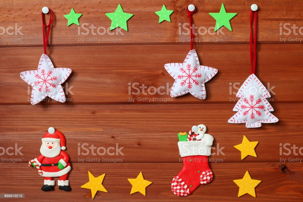 Christmas and new year decorations. - foto stock