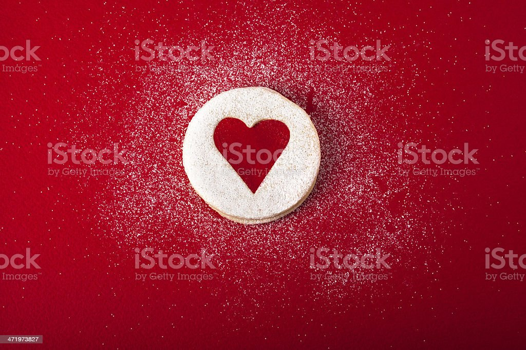 Christmas and new year gingerbread cookies stock photo