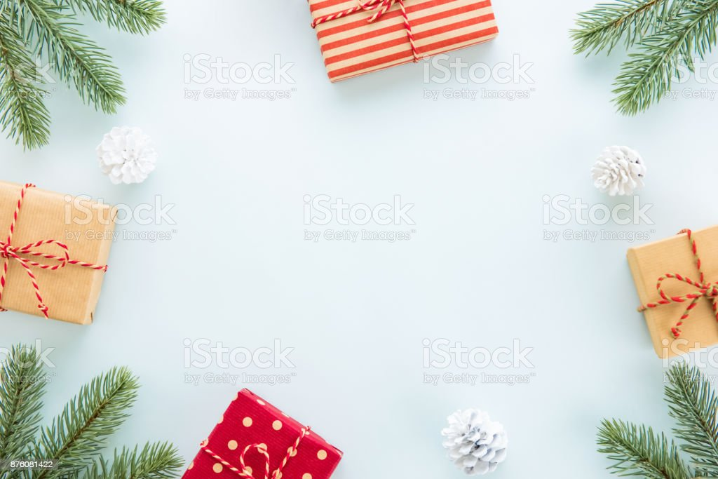 Christmas Holiday Background.Christmas And New Year Holiday Background With Copy Space