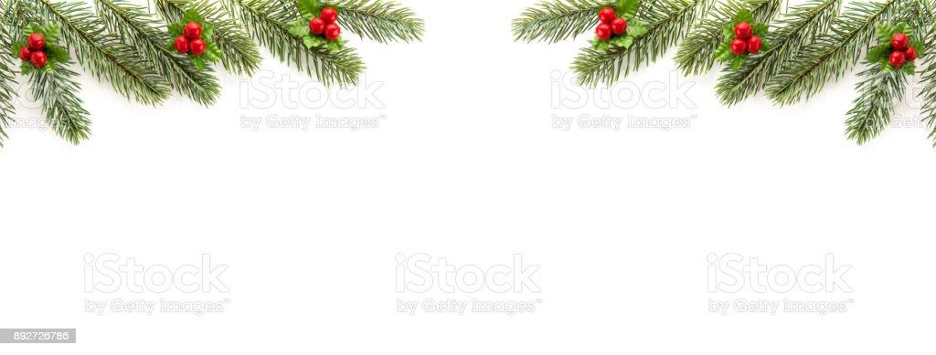 Très bien Noël Et Nouvel An Vacances Vue De Dessus Frontière Conception &SU_79