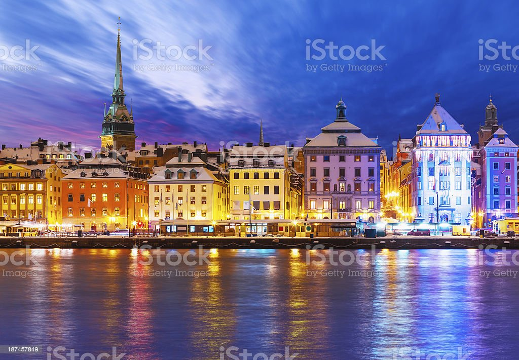 Christmas and New Year in Stockholm, Sweden stock photo