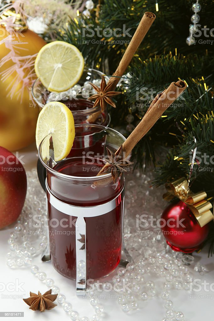 Christmas And New Year party Cocktail royalty-free stock photo