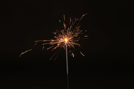 istock Christmas and new year party sparkler on black 1152850196