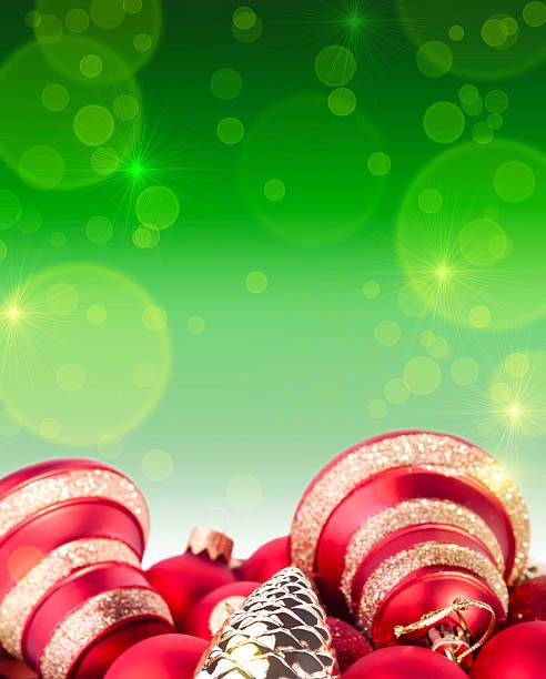 natal e ano novo vermelho fundo verde - gradients golden ribbons imagens e fotografias de stock