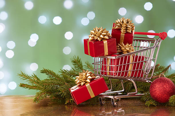christmas and new year shopping. - commercial activity stock photos and pictures