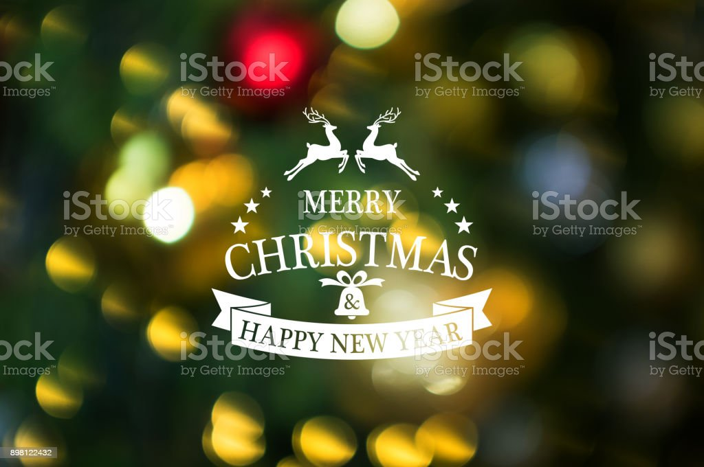 christmas and new year theme background merry christmas and happy new year text with abstract
