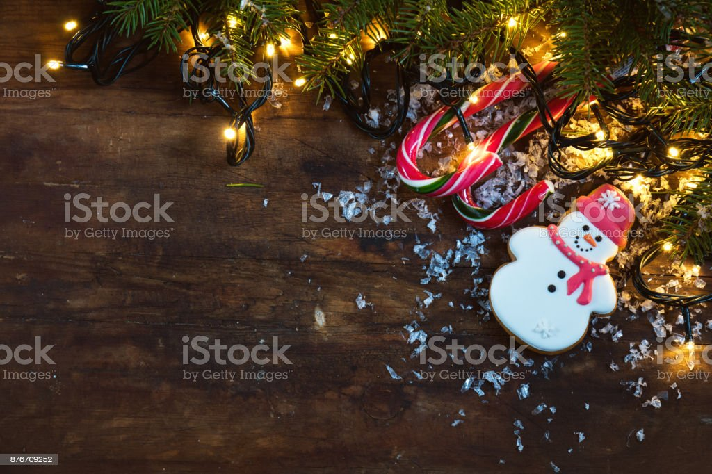 Christmas and NY composition on dark background royalty-free stock photo
