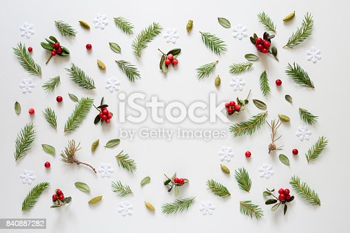 istock Christmas and winter holidays theme background 840887282