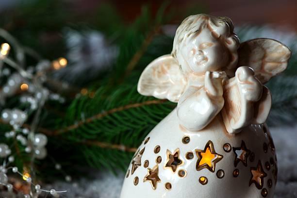 weihnachtsengel dekoration - schmuck engel stock-fotos und bilder