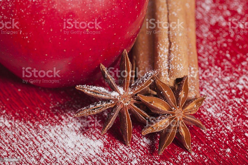 christmas apple anis and cinnamon royalty-free stock photo