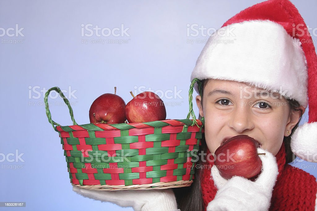 Christmas Apples royalty-free stock photo