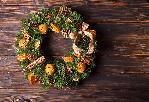 Christmas aromatic eco wreath – Foto