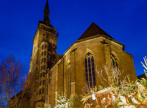 weihnachten um stiftskirche von baden baden (2) - adventgeschichte stock-fotos und bilder