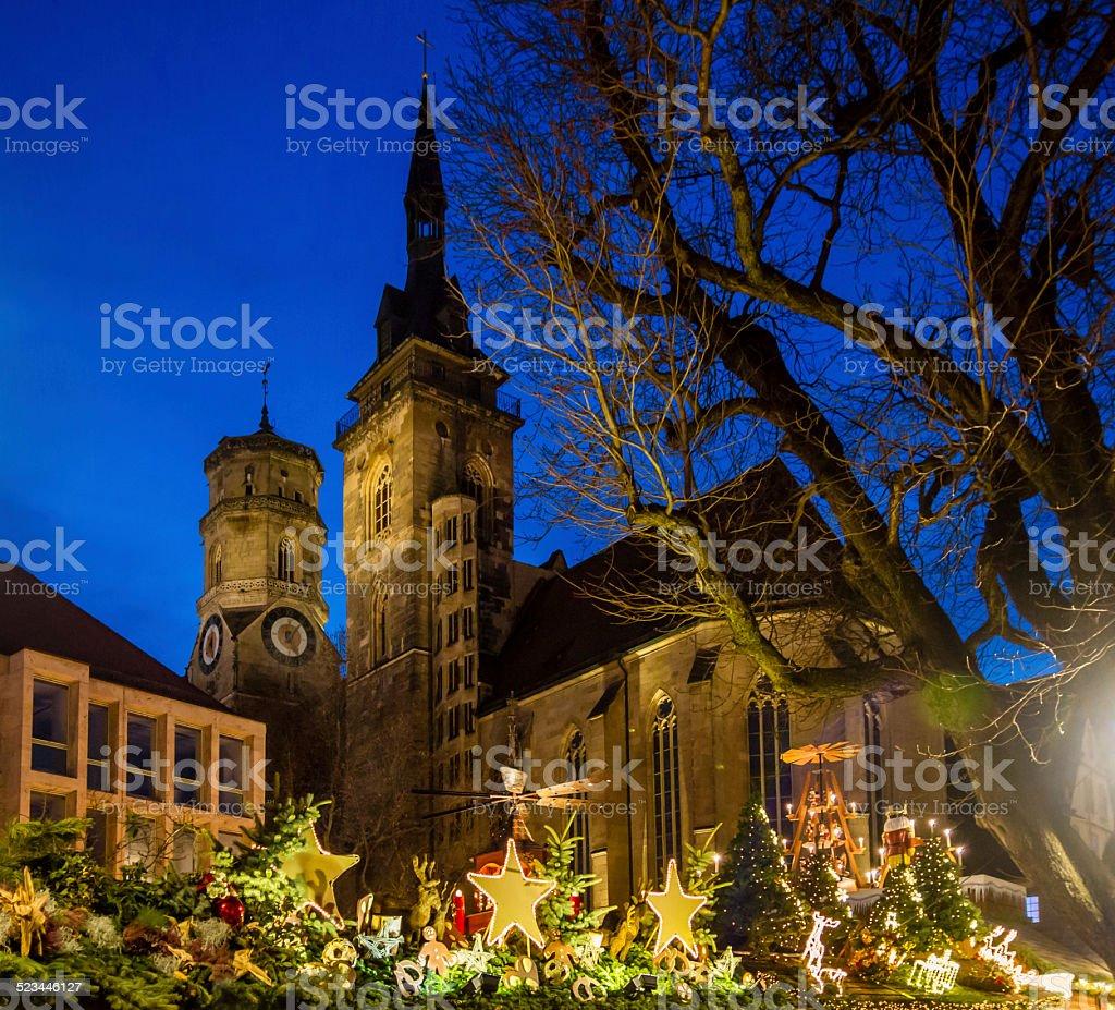 Christmas around Stiftskirche (1) stock photo