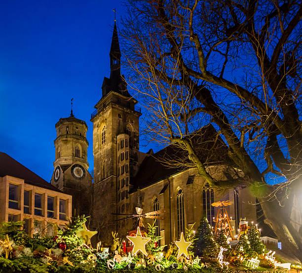 weihnachten um stiftskirche von baden baden (1) - adventgeschichte stock-fotos und bilder