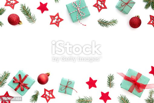 istock Christmas Arrangement On White Background 1024641454