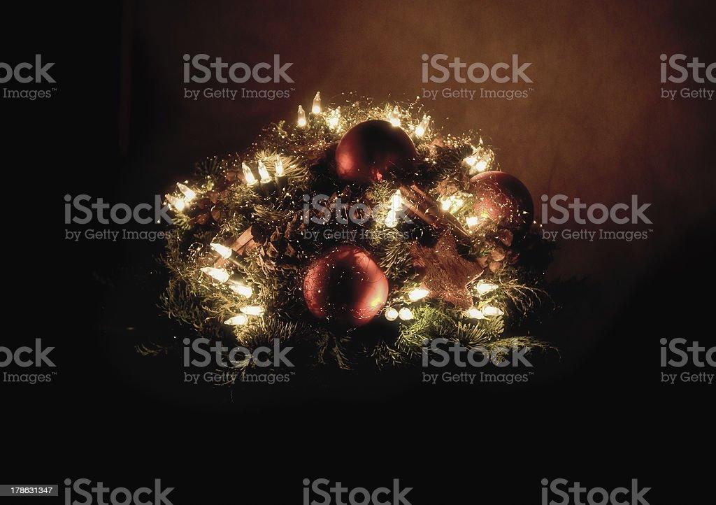 Weihnachts-arrangement - Lizenzfrei Abenddämmerung Stock-Foto