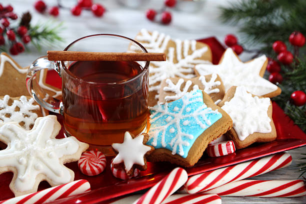 christmas arrangement christmas hot apple cider stock pictures, royalty-free photos & images