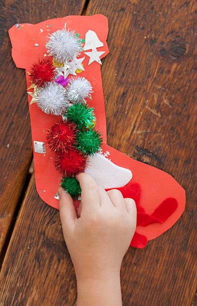 Christmas art and craft stock photo