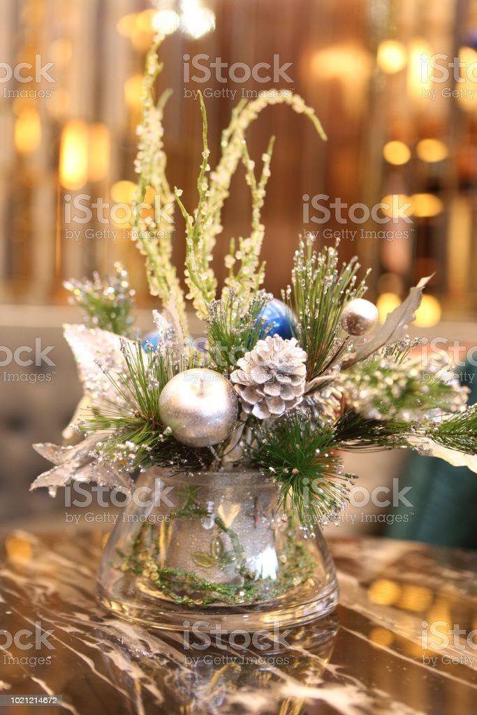 Christmas Artificial Flower On An Luxury Background Stock Photo Download Image Now Istock