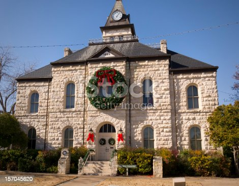 Historic Courthouse built in 1893 decked out for the Christmas Holiday