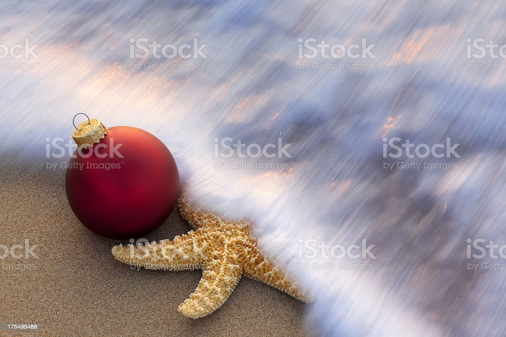 Christmas at the Beach royalty-free stock photo