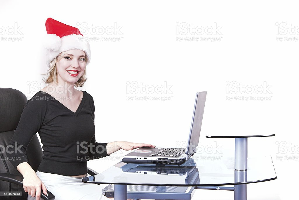 Christmas at the office royalty-free stock photo